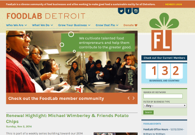 FoodLab Detroit homepage