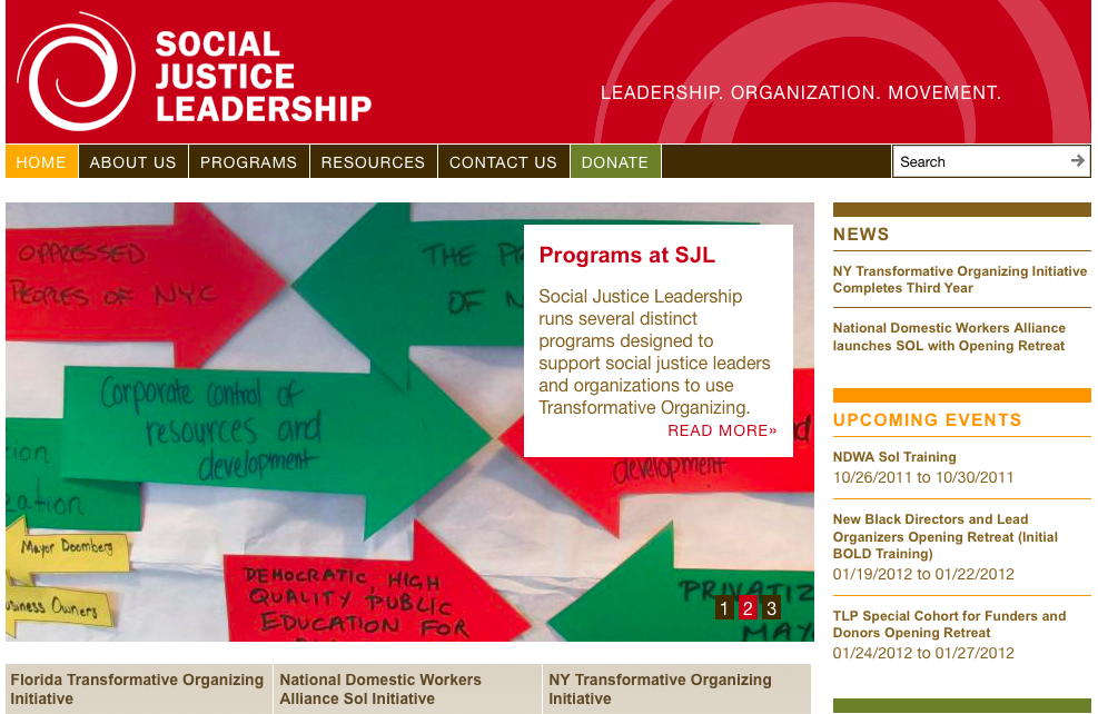 Screenshot of sojustlead.org